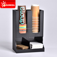 Paper plastic coffee cup acrylic dispenser