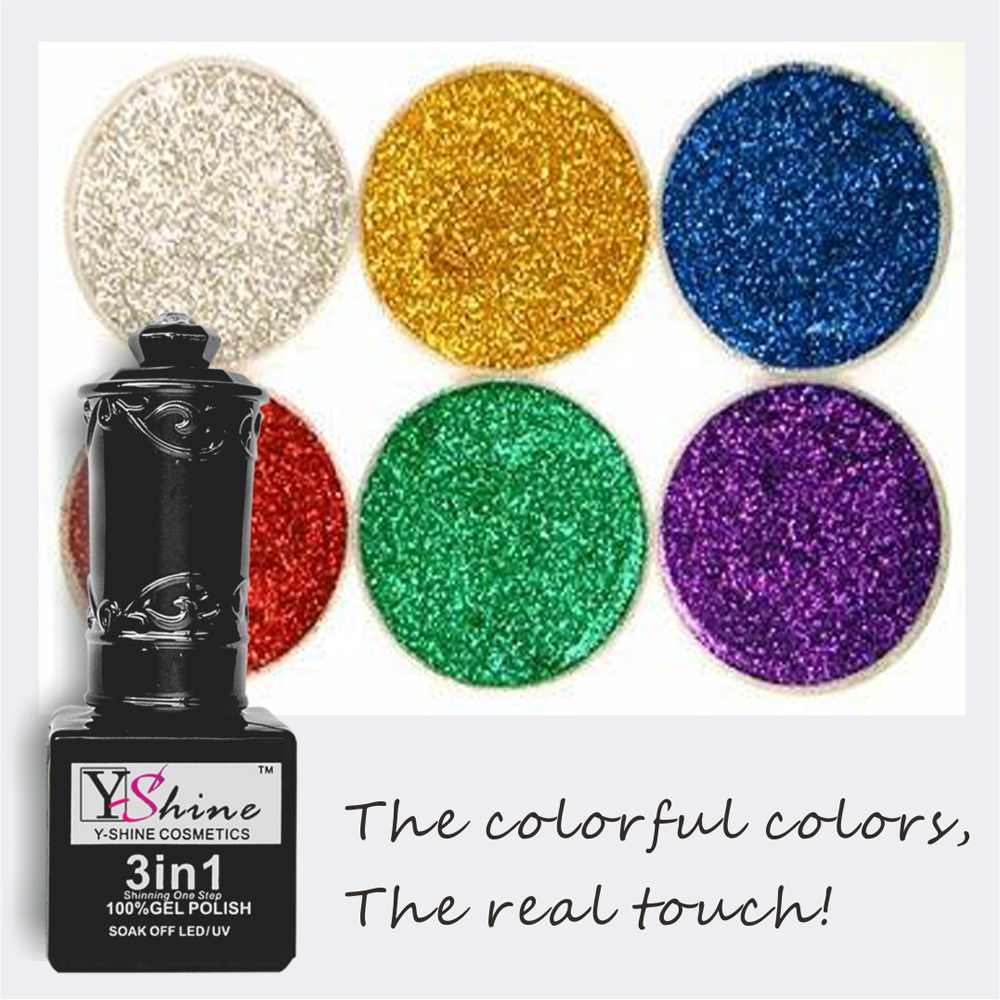 A granel de brillando fuerte acrílico Glitter powder para uñas-Polvo ...