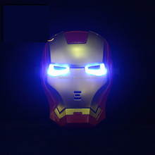 cool Iron Man party masquerade masks bulk fo rmen with LED QMAK-1557