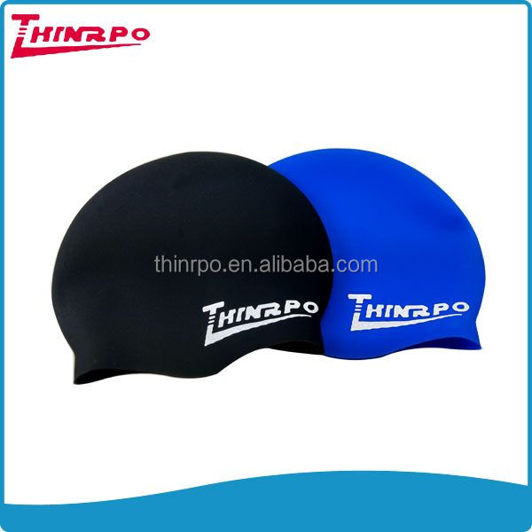 Factory Stocked Custom Logo Silicone Swim Caps Adult/Children Swimming Hat