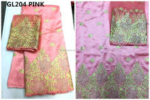 good design African embroidery george lace fabric indian george lace george in pink for dresses