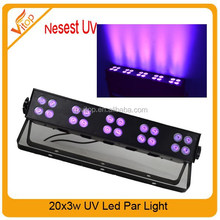 Hot! Strobe effect stage light show black light 16*3W LED UV light