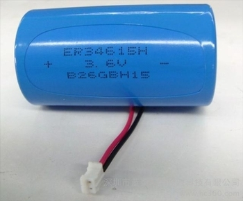 3.6v lithium battery er34615 19Ah 190000mAh LiSOCl2 Battery Type and 34.2*61.5 Size D size lithium battery with wire