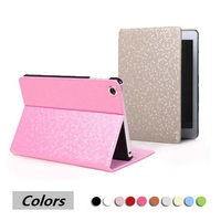 WS customizable OEM auto sleep and wake mode leather tablet case for apple ipad mini 4