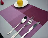 Cheap Plastic Placemat PVC for Table Heat Insulation Stain-resistant Kitchen Placemat