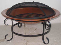 Steel Fire Pit Copper Color Finish