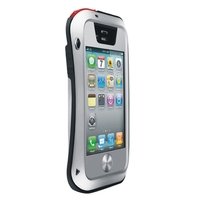 LOVE MEI Metal Ultra-thin Small Waist Waterproof Dustproof Shockproof Powerful Protective Case for iPhone 4 & 4S(Silver)