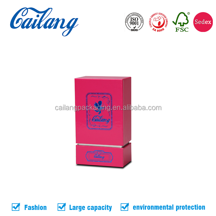 China supplier paper perfume packaging box pink cosmetic gift box Rigid cardboard box fragrance