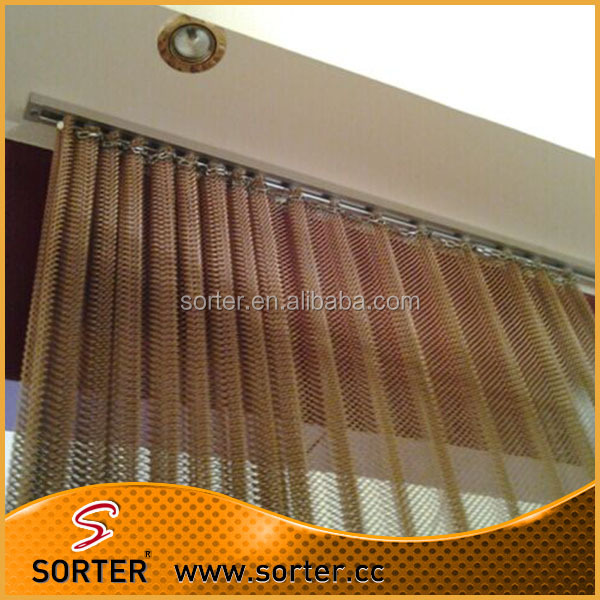 Architectural wall wire mesh curtain metal drapery for home decoration