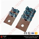 Copper Bolted straight Terminals Cable Lug to flat Equipment Terminal Clamp