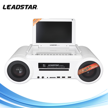 DVD portable karaoke player with digital tv tuner Battery with TV usb smart card reader dvd player 2micphone jack for singing