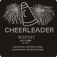Beautiful Cheerleader Sports Design Rhinestone Transfer Patterns Motif For Chothing