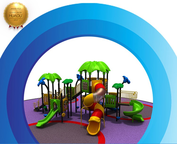 2017 new Leaf series outdoor playground slide, playground slide wholesale