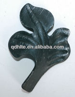 different style wrought iron cast steel flowers and leaves