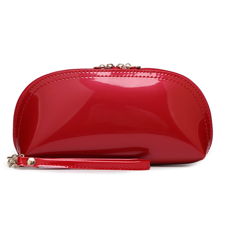 Eco-friendly pu leather makeup cosmetic bag