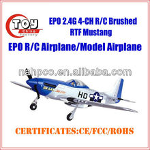 kids 2.4G 4CH toy brushed china model productions rc airplanes with low prices