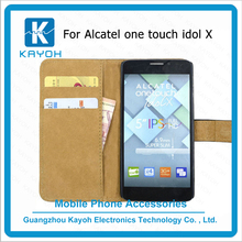 [kayoh]phone covers For Alcatel One Touch Idol X High Quality PU Leather Case Wallet Style With Card Slot