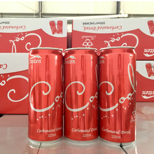 325ml Low-fat red color canned cola carbonated water drink