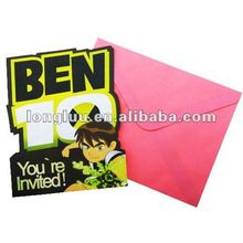 Popular paper multi-colored printed kids carnival invitation cards