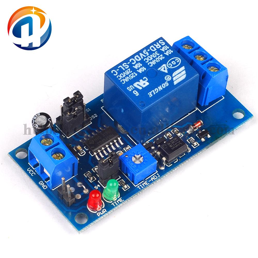 DC 5V Time Delay Relay Module with Delay Adjustment Potentiometer Turn ON Vibration Module