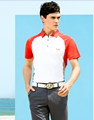 2017 newest men's short raglan sleeve polo golf shirt