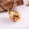Natural Quail Egg Aromatherapy 18k Gold