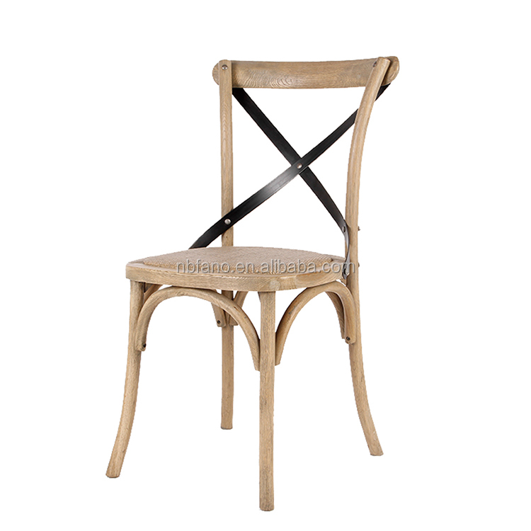 FN-5498 natural solid wooden recycled dining chairs