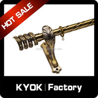 KYOK double curtain rods wholesale & curtain rod accessories factory,metal beaded curtain rod