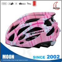 New design custom bicycle helmets, girls cycle helmet, various custom sport helmets,OEM in-mold adult CE CPSC bicycle helmets