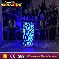 High quality high led bar table high glass top led bar cocktail table