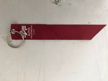 promotional embroidered/woven/screen keychain/lantard
