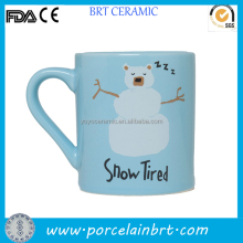 Ceramic snow tired mug hot sale christmas gift in 2013