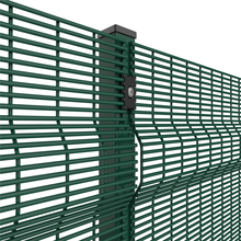 anti-climbing fence clearvu 358 security fence,low price invisible security pvc coated clearvu 358 fence