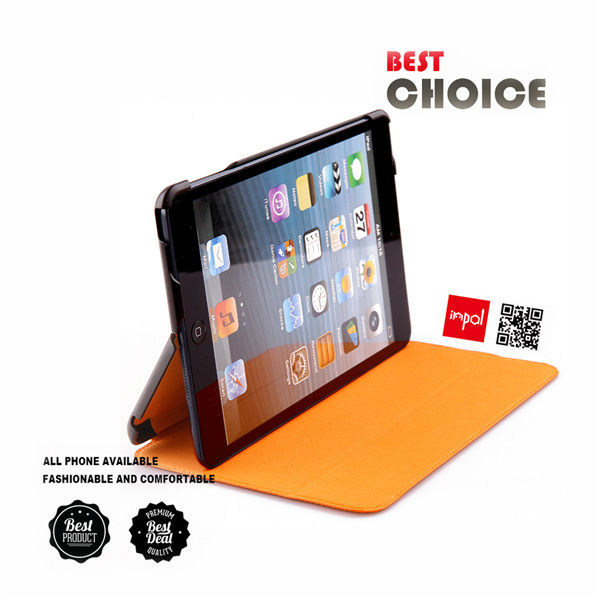 Smart case for ipad mini accessories in slim leather book style BY OEM wholesale