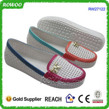 Cheap Indoor PVC white Flat Shoes philippines