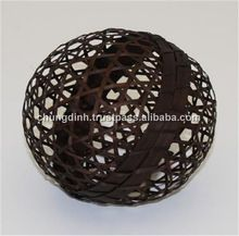 Round Ball With Rope Full Black Color For Decoration