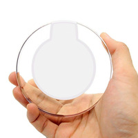 Crystal Shape Transparent Wireless Super Fast Mobile Phone Charger For iPhone For Samsung