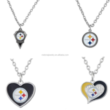 4 Styles NFL Team Logo Pittsburgh Steelers Necklace Pendant Chain Necklace Wholesale