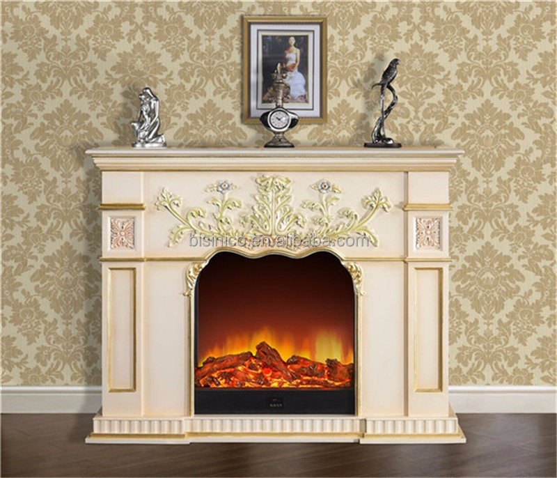 georgian style carved wood electric fireplace decorative