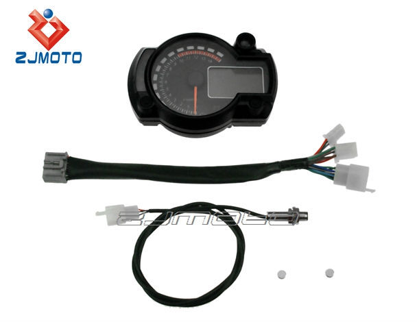 Motorcycle Instrument Panel : Motorcycle accessory universal lcd instrument