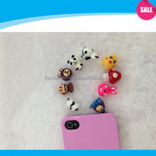 Cute animal pattern dust plug For Cell phone dust plug charm