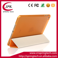 PU folding sleeve Newest pad protective orange color case for ipad mini 4