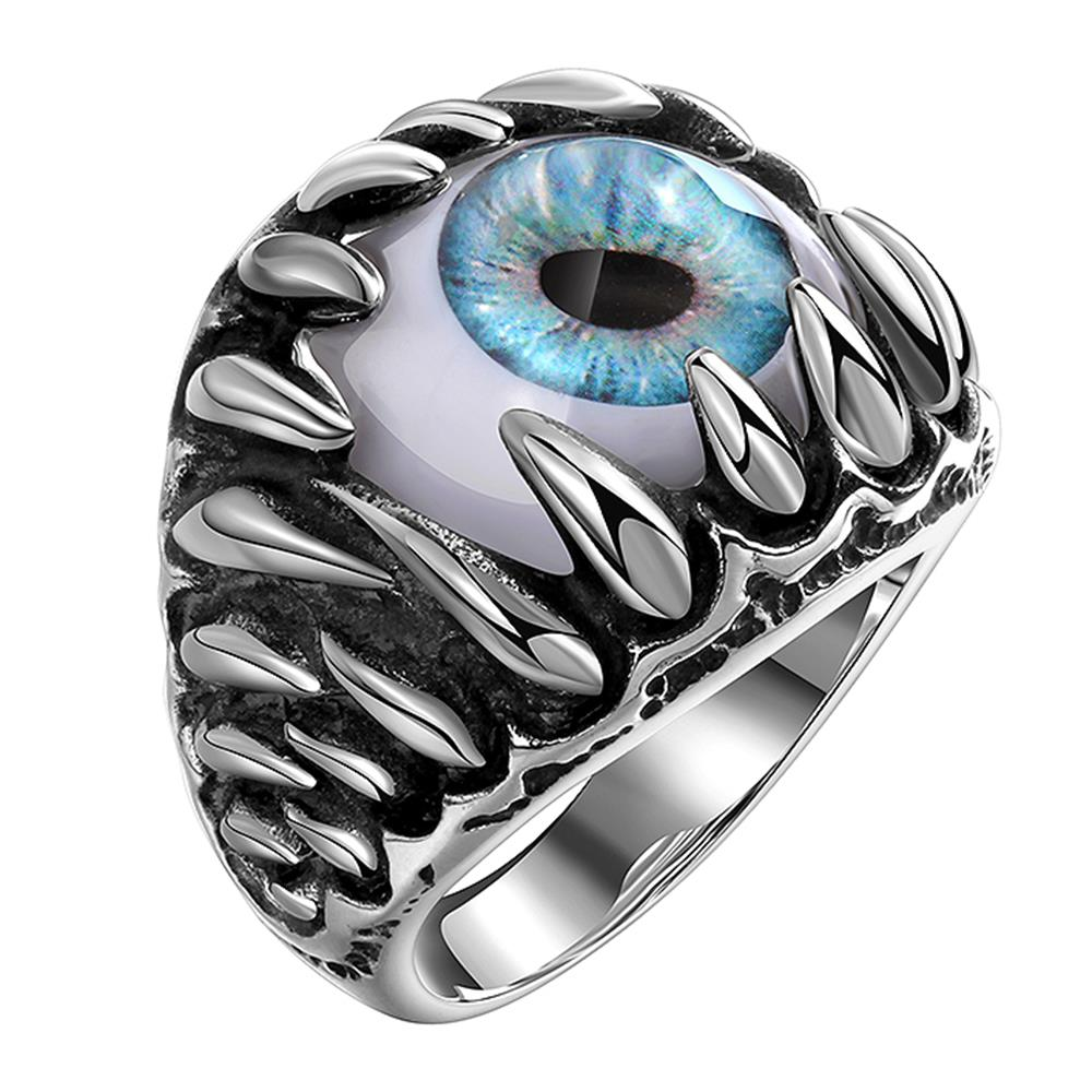 Luxury Tryme Brand Men Rings Hit Hop 316L Stainless Steel Jewelry Men Rings Cyclopia Monster Eyed Retro Gothic Teenages Rings
