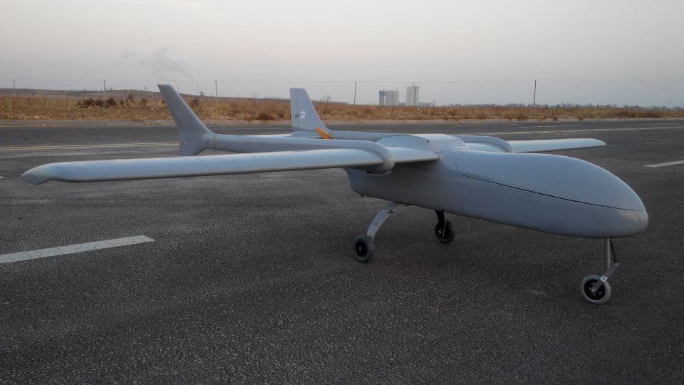 New Remote Control And Large Payload Fixed Wing UAV Drone View