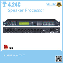 4 input/8 output speaker processor possess crossover EQ