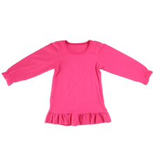 wholesale winter knit icing new pink model flowers shirts blouse design for children