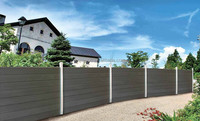 Easy install top quality Europe Popular WPC Fence Wall, Wood Plastic Composite fence, Garden Fence