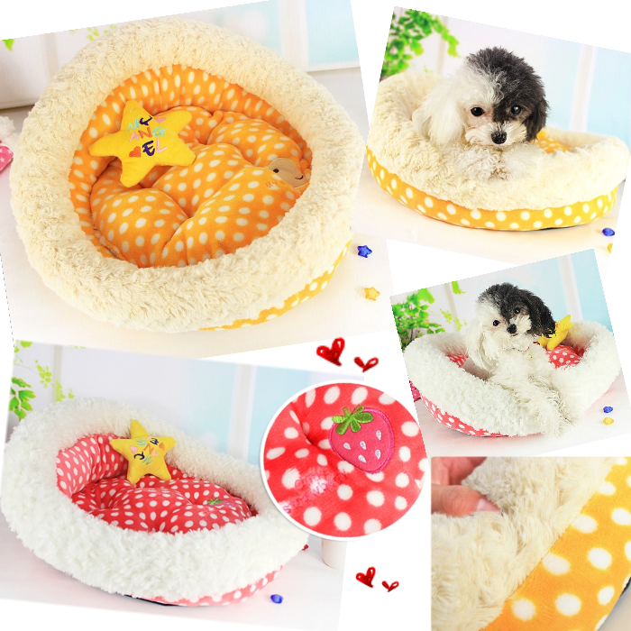 Dots Print Pet Round Bed Dog Bed China Wholesale Dogs Furniture Pet Products