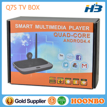 Q7S Android Internet TV BOX Cheap Price Android TV BOX Webcam With Skype HD Kitkat XBMC Rk3188