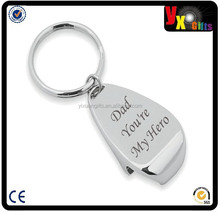 Chrome Keyring and Bottle Opener Dad You're My Hero/best gifts for diabetics